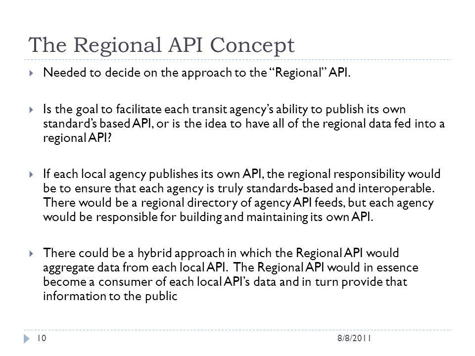 The Regional API Concept