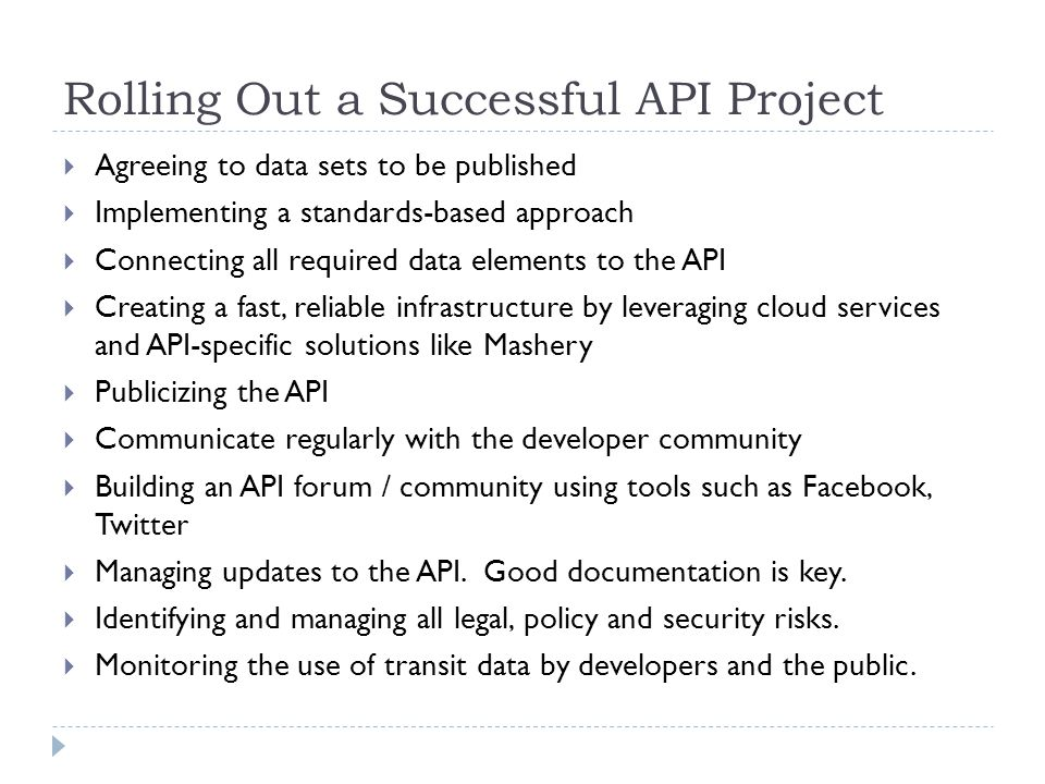 Rolling Out a Successful API Project