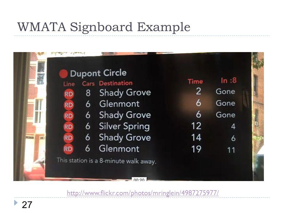 WMATA Signboard Example