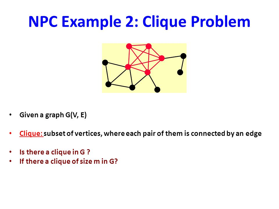 NPC Example 2: Clique Problem