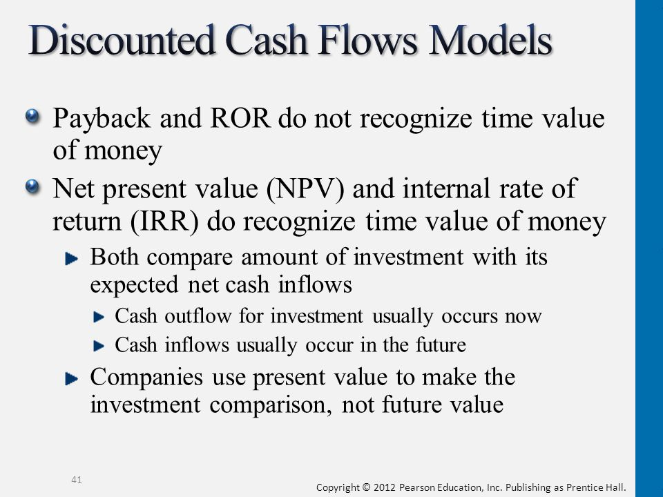 Discounted Cash Flows Models