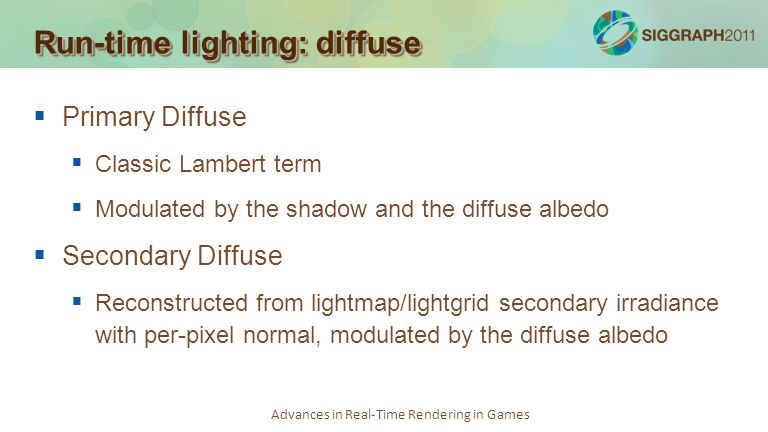 Run-time lighting: diffuse