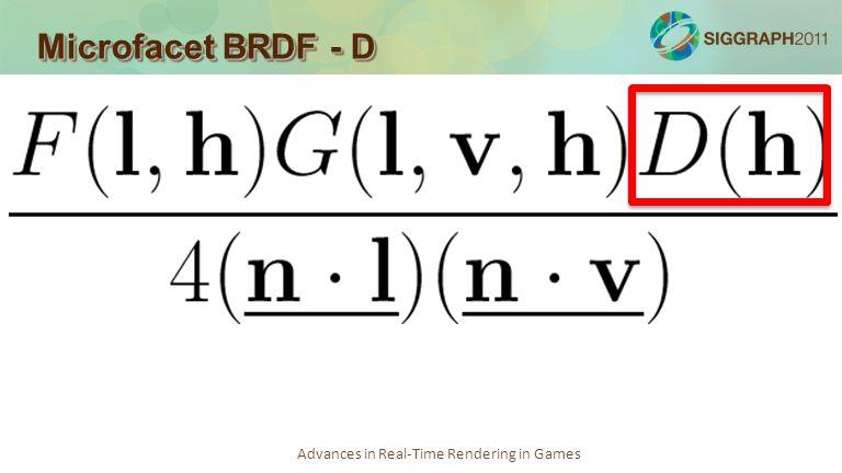 Microfacet BRDF - D