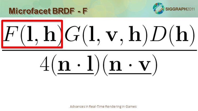 Microfacet BRDF - F
