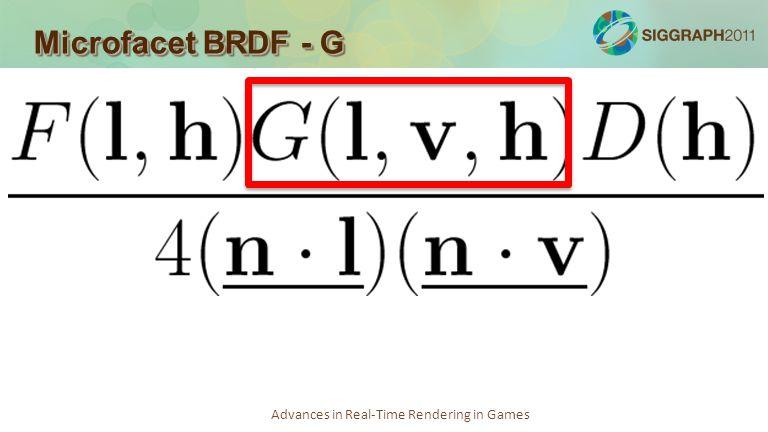 Microfacet BRDF - G