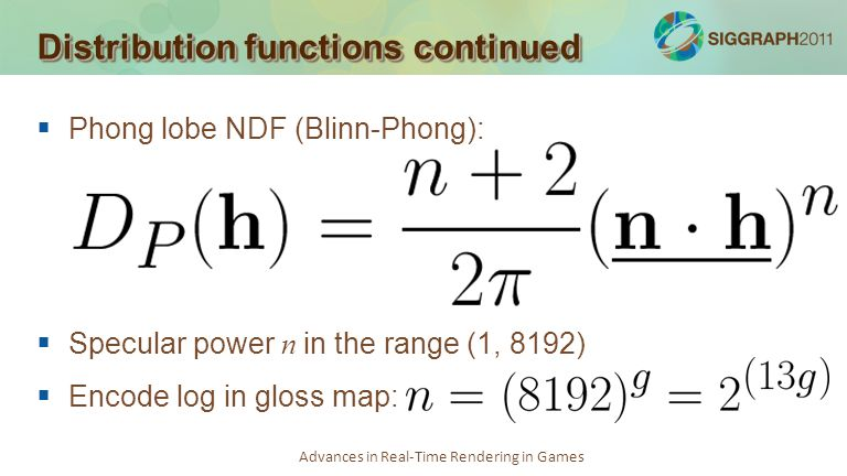 Distribution functions continued