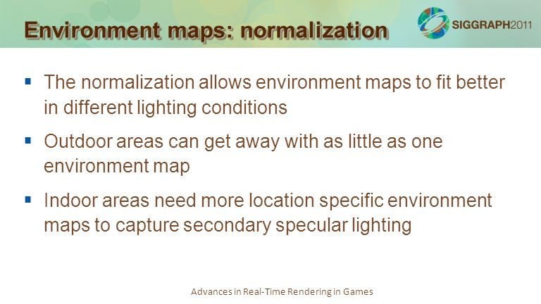 Environment maps: normalization