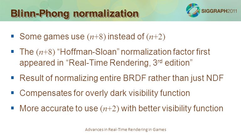 Blinn-Phong normalization