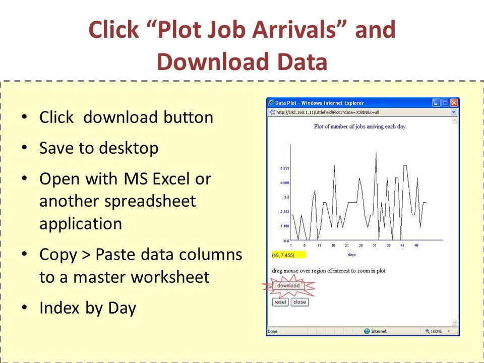 Click Plot Job Arrivals and Download Data