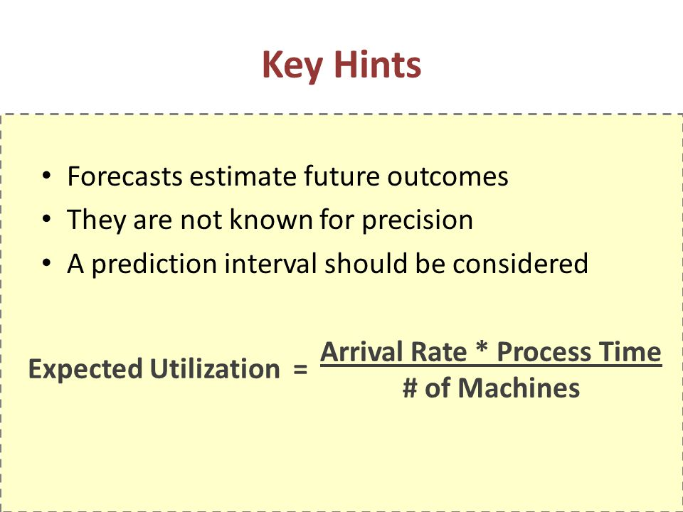 Key Hints Forecasts estimate future outcomes