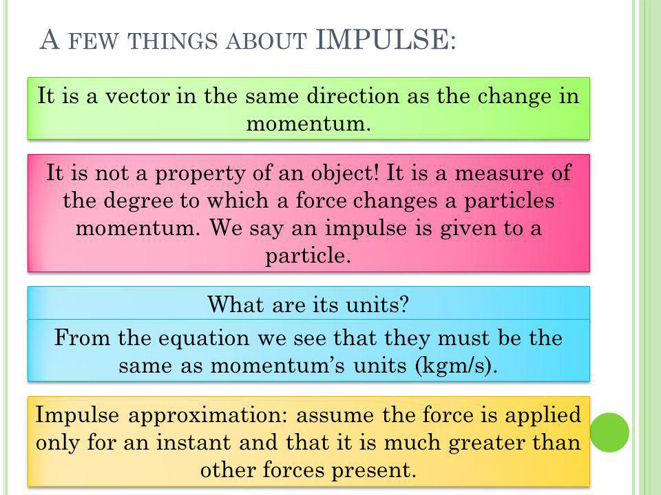 A few things about IMPULSE: