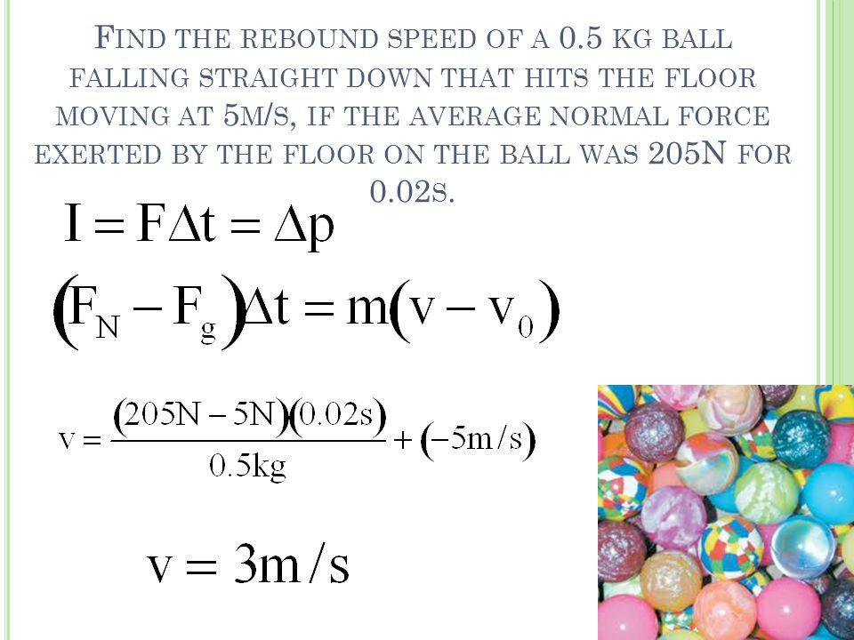 Find the rebound speed of a 0