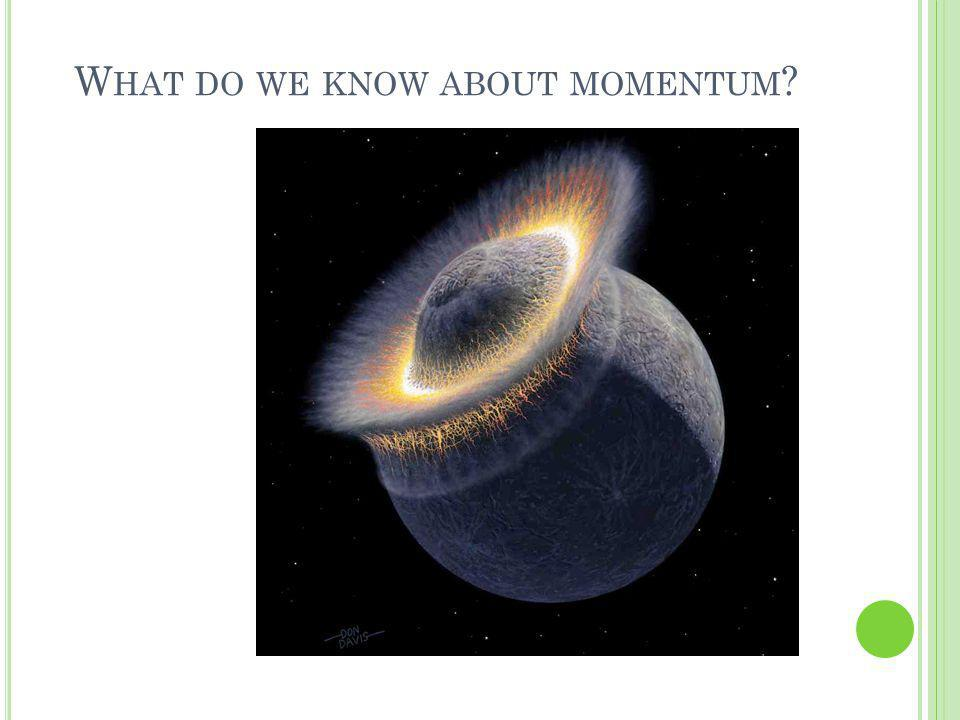 What do we know about momentum