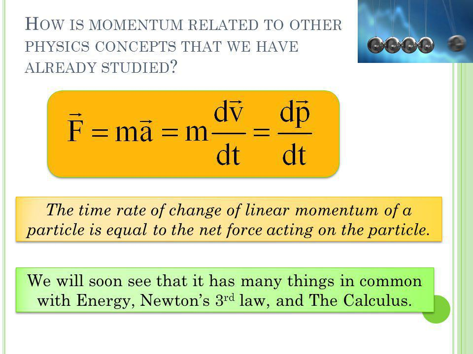 How is momentum related to other physics concepts that we have already studied