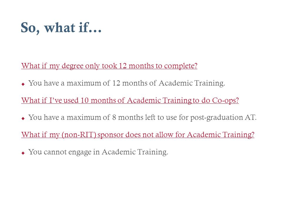 So, what if… What if my degree only took 12 months to complete