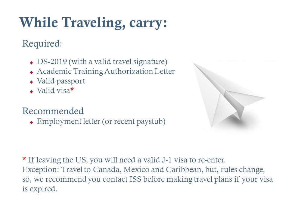 While Traveling, carry: