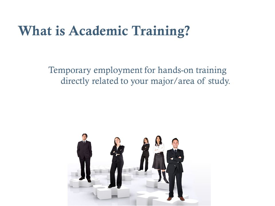 What is Academic Training