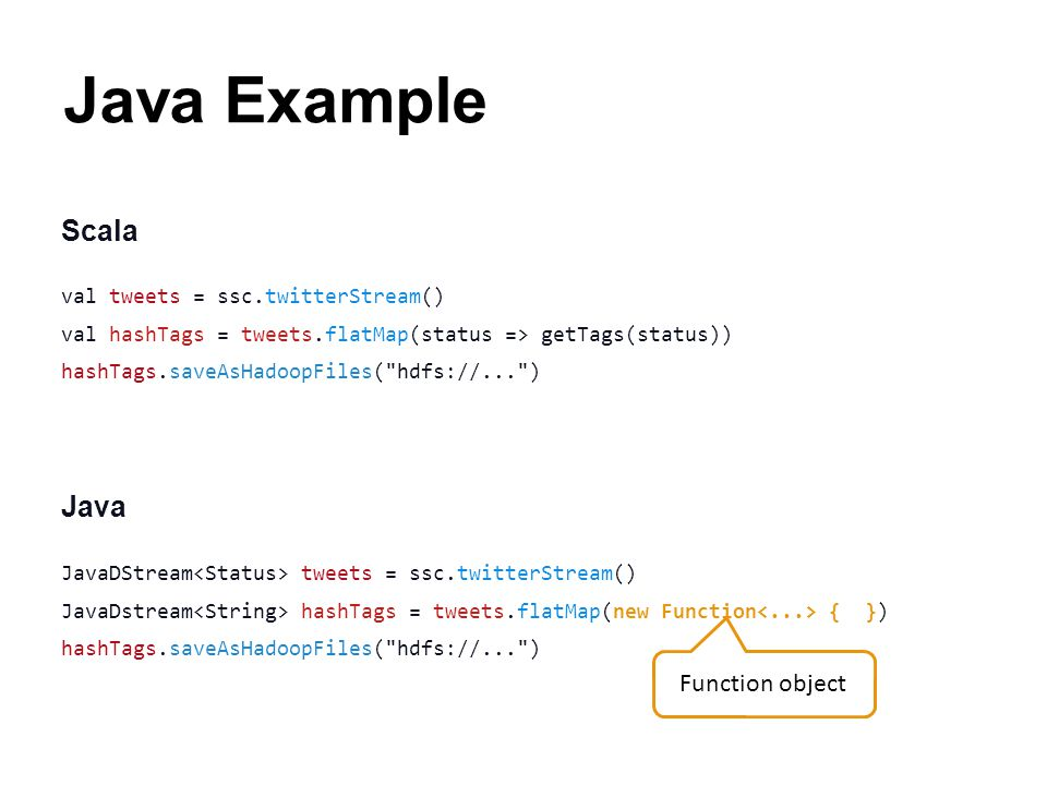 Java Example Scala Java Function object