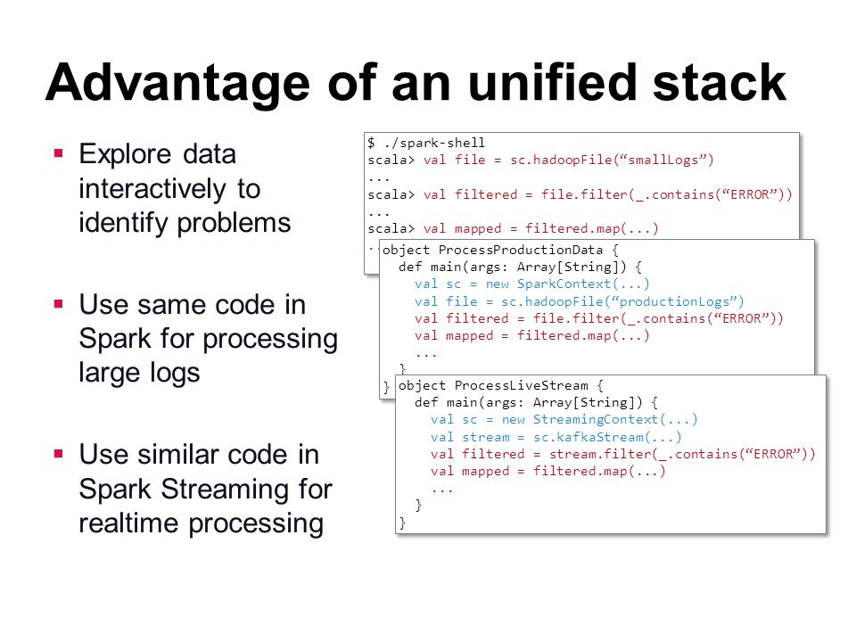 Advantage of an unified stack