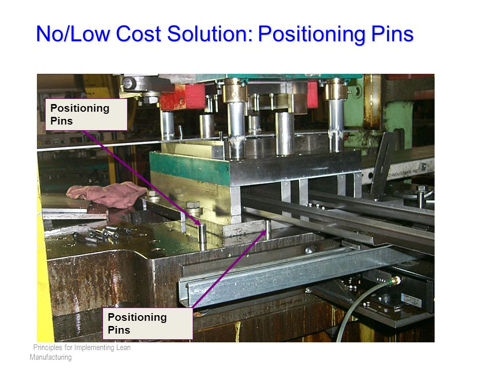 No/Low Cost Solution: Positioning Pins