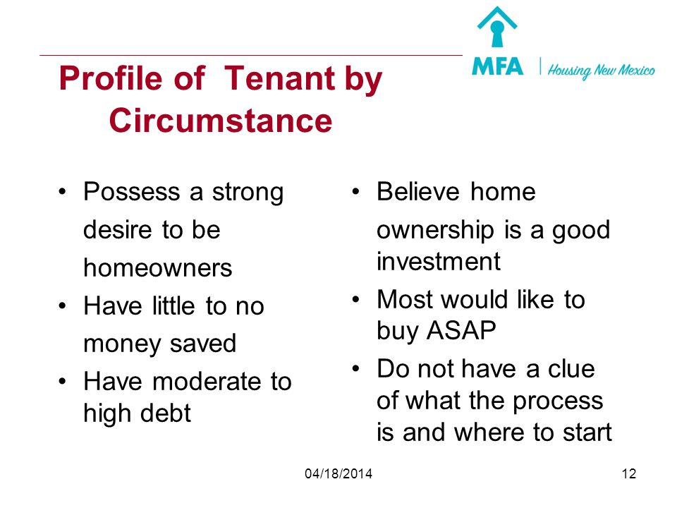 Profile of Tenant by Circumstance