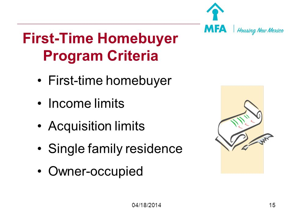 First-Time Homebuyer Program Criteria
