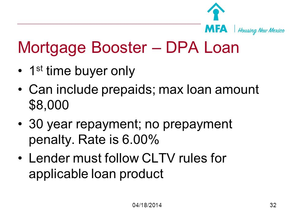 Mortgage Booster – DPA Loan