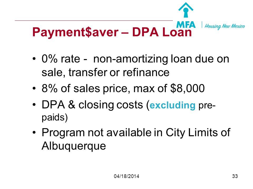 Payment$aver – DPA Loan