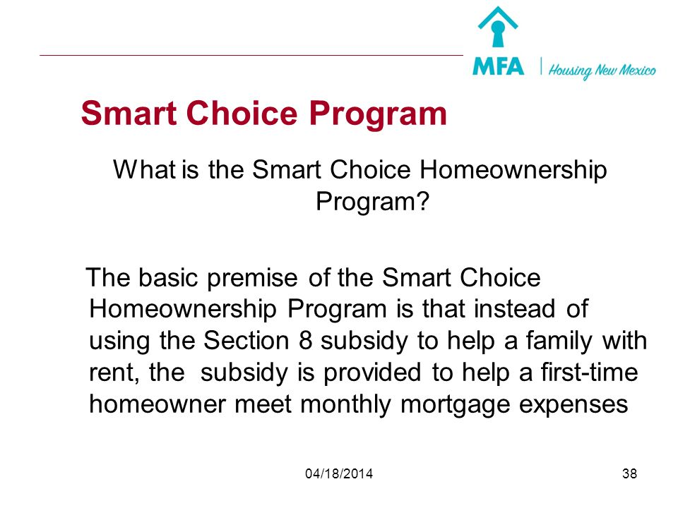 What is the Smart Choice Homeownership Program
