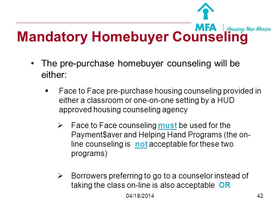 Mandatory Homebuyer Counseling