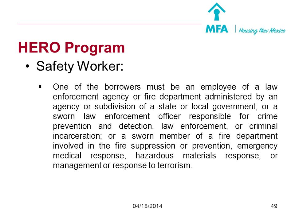 HERO Program Safety Worker: