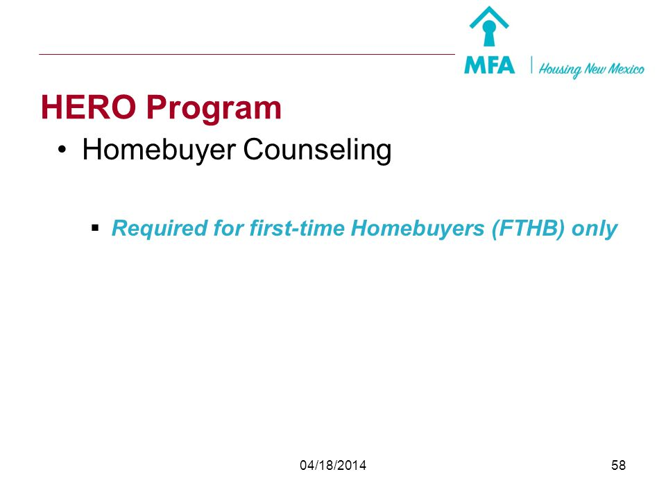 HERO Program Homebuyer Counseling