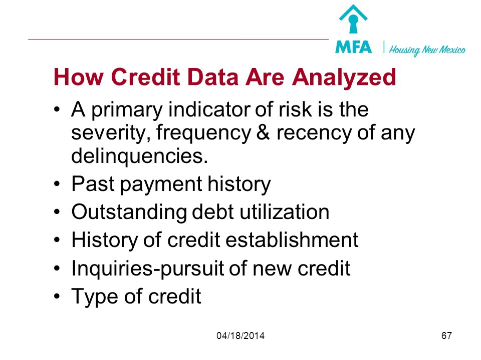 How Credit Data Are Analyzed