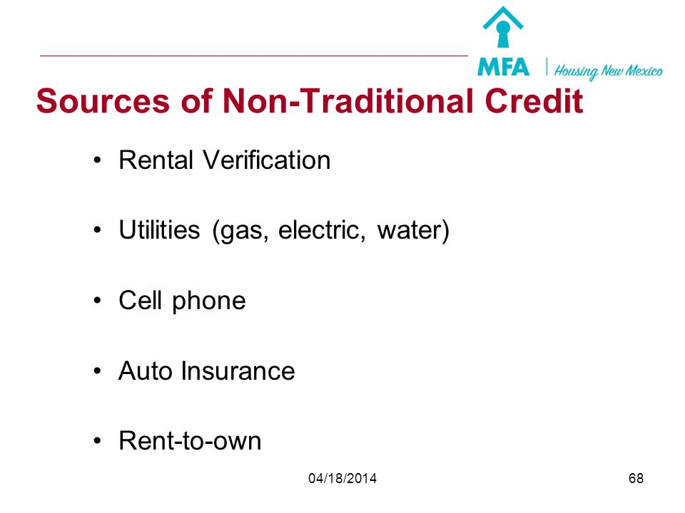 Sources of Non-Traditional Credit