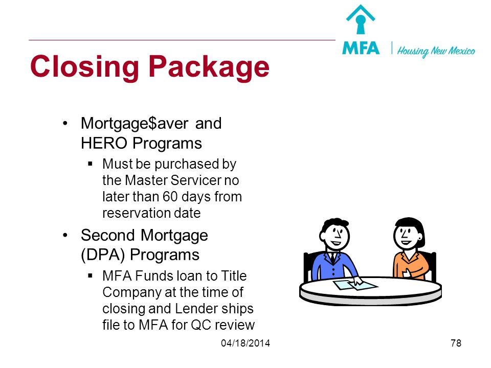 Closing Package Mortgage$aver and HERO Programs