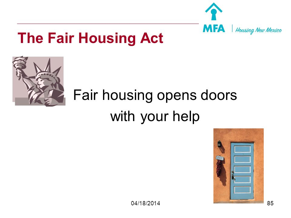 Fair housing opens doors