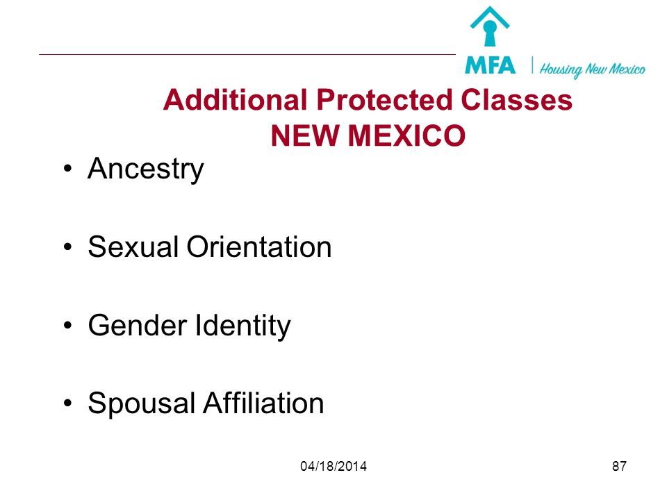 Additional Protected Classes NEW MEXICO