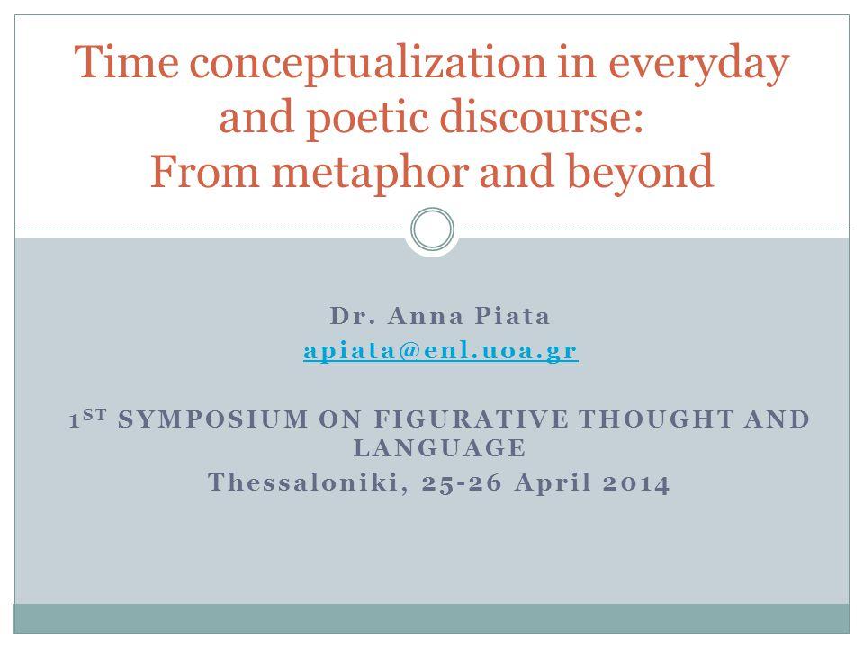 1st Symposium on figurative thought and language