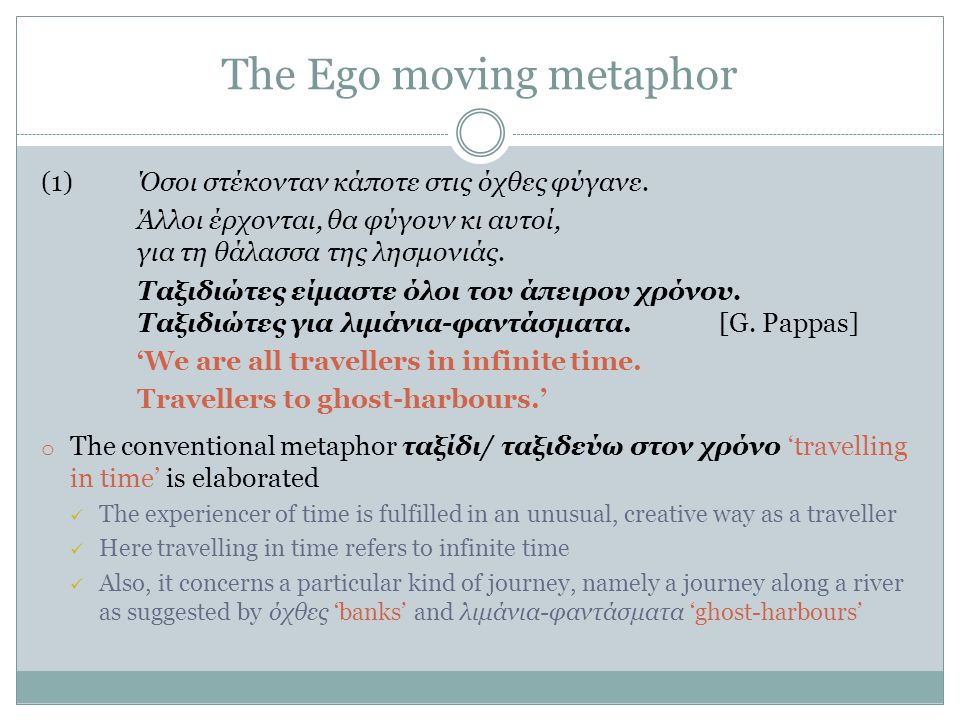 The Ego moving metaphor