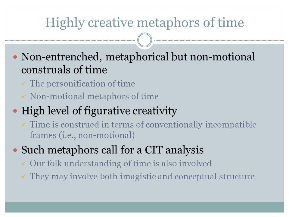 Highly creative metaphors of time