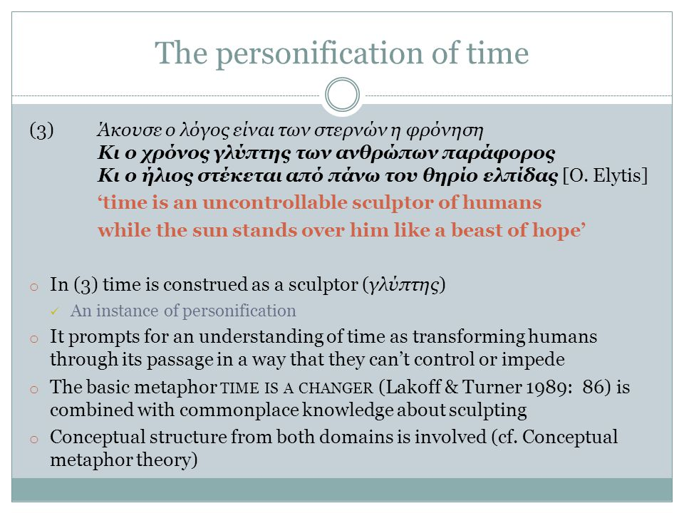 The personification of time