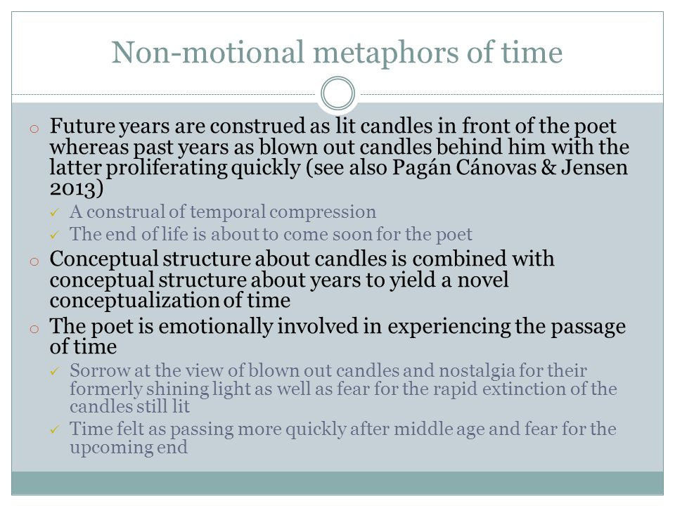 Non-motional metaphors of time
