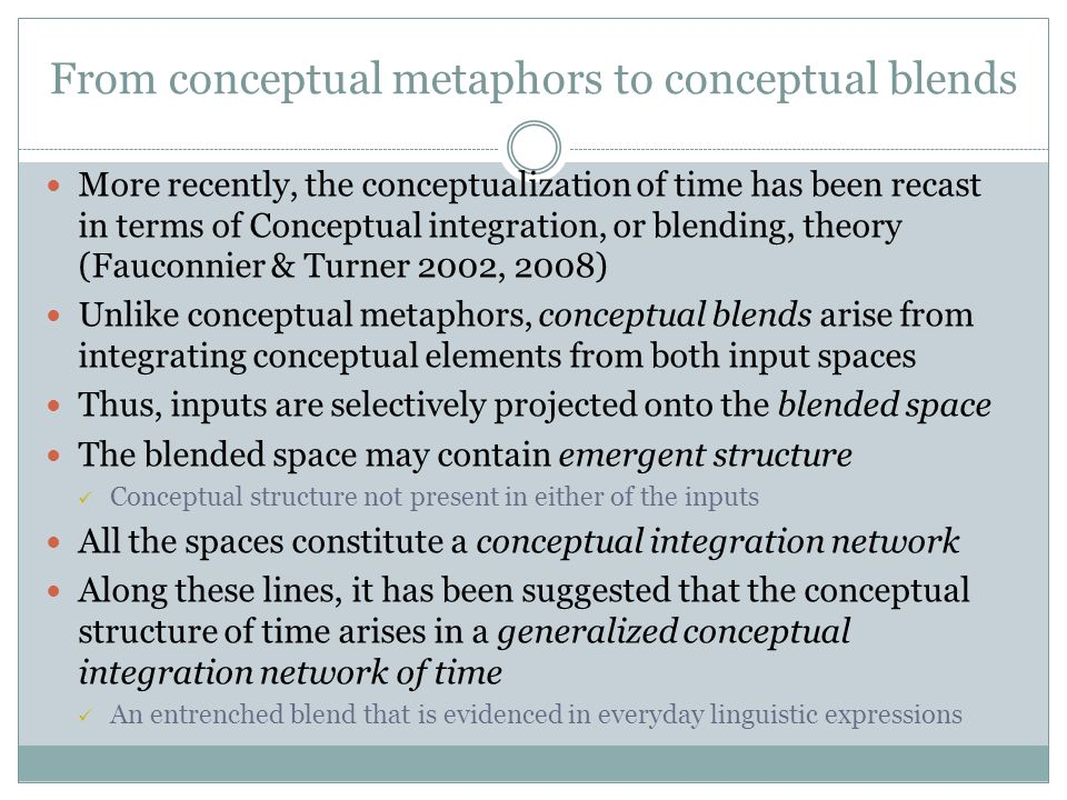From conceptual metaphors to conceptual blends