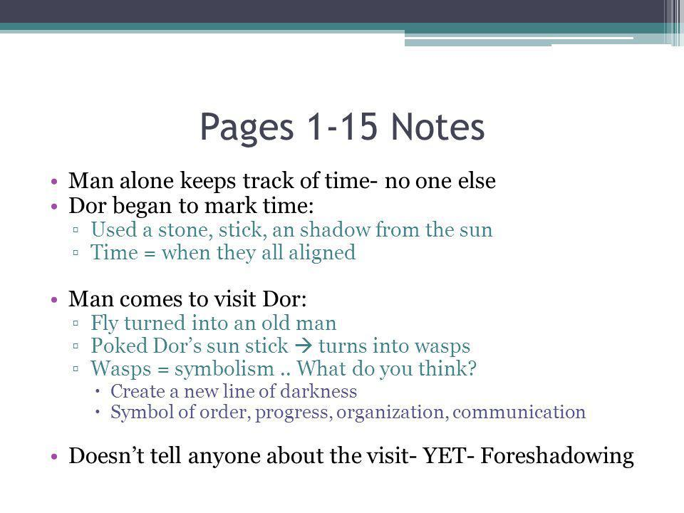 Pages 1-15 Notes Man alone keeps track of time- no one else