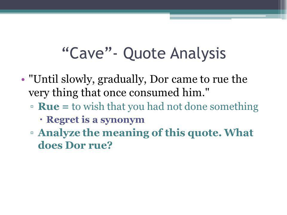 Cave - Quote Analysis