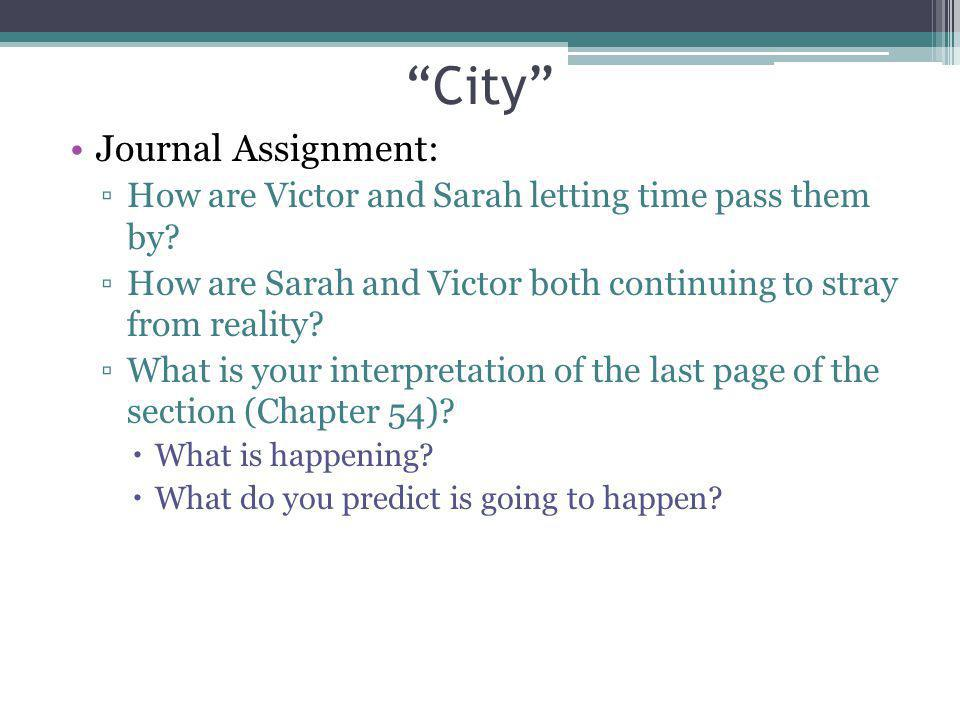 City Journal Assignment: