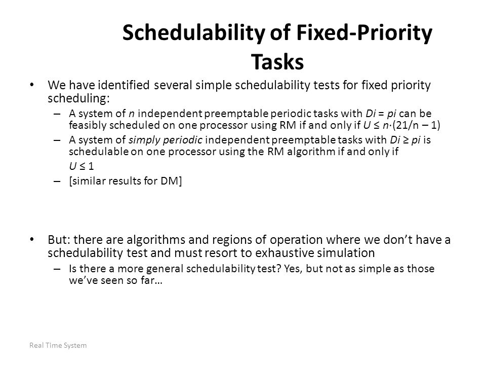 Schedulability of Fixed-Priority Tasks