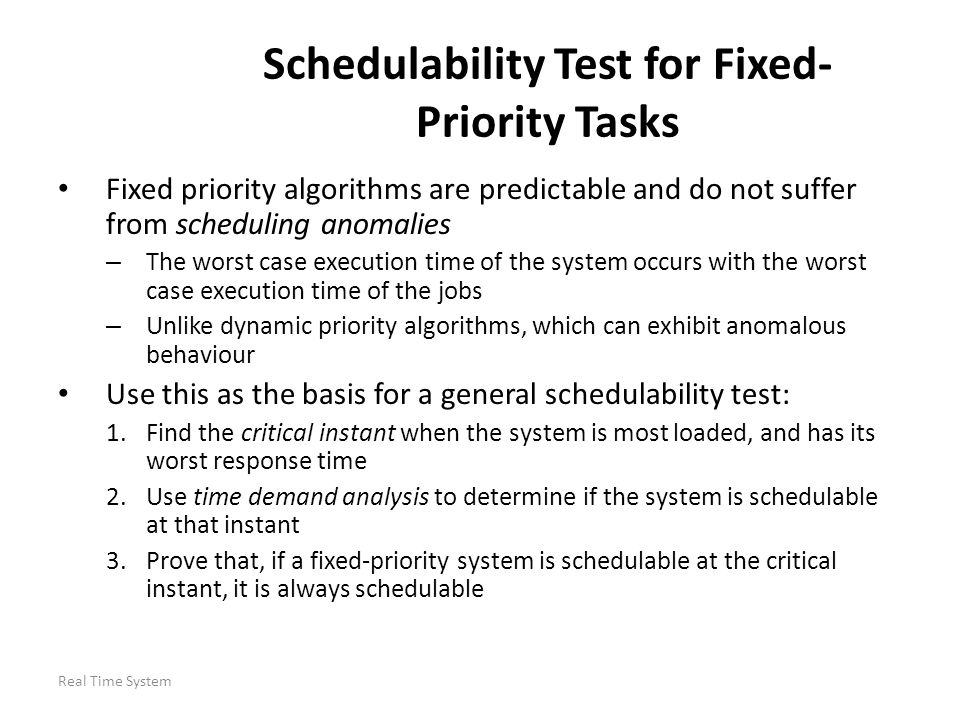 Schedulability Test for Fixed-Priority Tasks