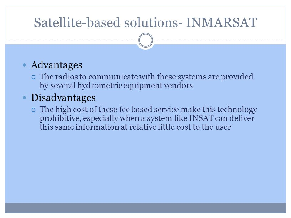 Satellite-based solutions- INMARSAT