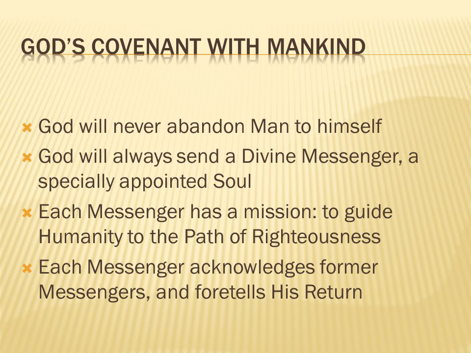 God's Covenant with Mankind